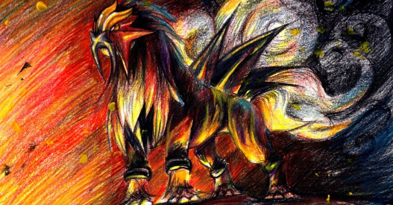 Entei by Riberry